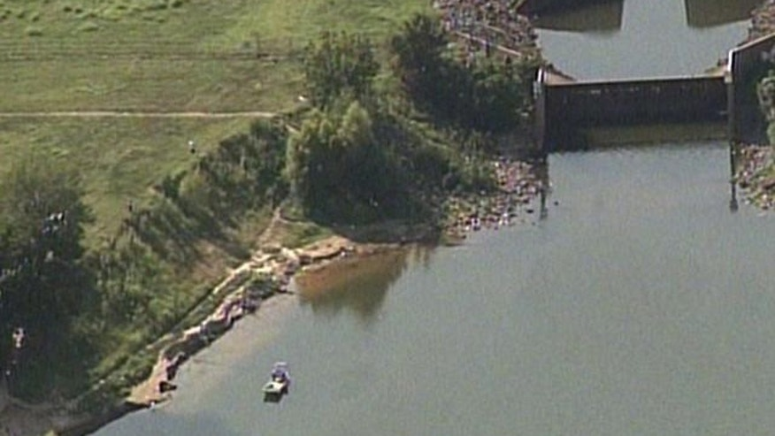 July 8, 2012: The scene where a 6-year-old boy disappeared on a family fishing trip.
