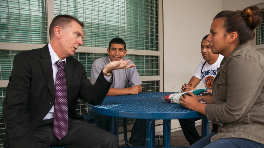 June 14, 2012: Los Angeles Unified School District LAUSD Superintendent John Deasy tours the district in Los Angeles.