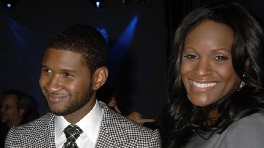 The stepson of Usher Raymond, seen here with ex-wife Tameka Foster in 2007, reportedly remains in critical condition following a Jet Ski accident last week. (AP)