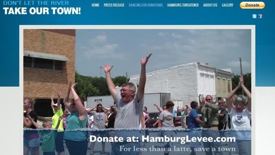 Townspeople in Hamburg Iowa, are appealing for help with their levee.