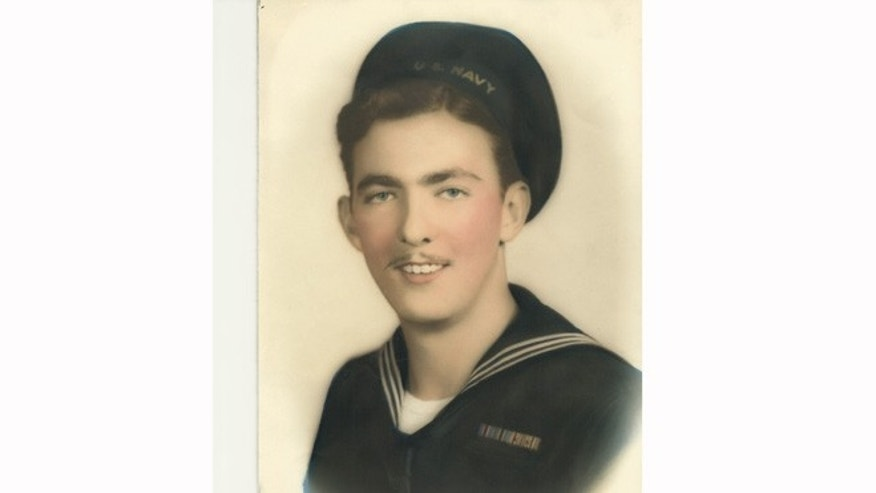 Portrait of Wesley Bonham who served on the U.S.S. Suwannee during World War II