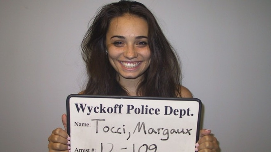July 27, 2012: Margaux Tocci, 19, is seen in this arrest photograph provided by the Wyckoff Police Department, in Wyckoff, N.J.