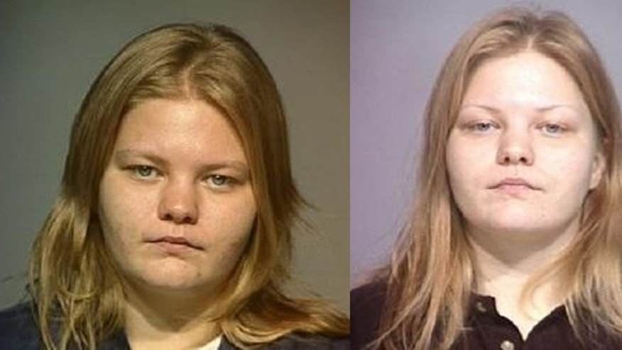 Booking photos of Misty Cook from 2002 (l.) and 2005.
