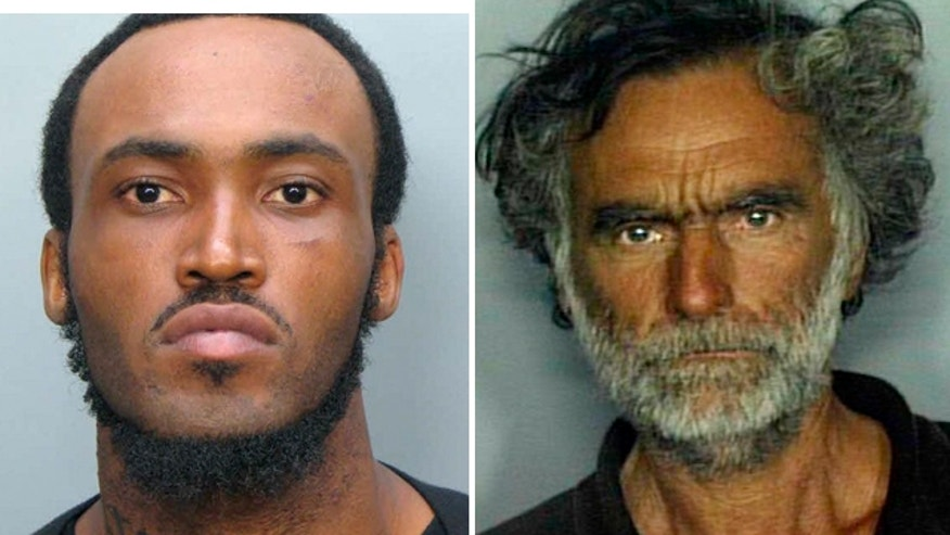 May 29, 2012: Police say 31-year-old Rudy Eugene, left, bit into 65-year-old Ronald Poppo's, right, face.