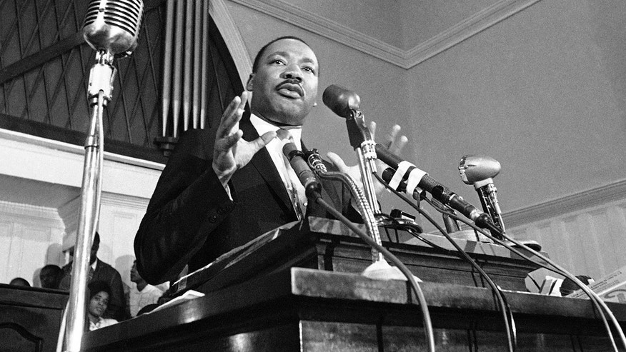 1960 file photo: Martin Luther King Jr. speaks in Atlanta. A 1960 recording of an interview with King never before heard in public is up for sale.