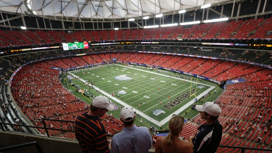 Sept. 1, 2012: Fans begin to fill the Georgia Dome prior to a NCAA college football game between Auburn and Clemson in Atlanta.