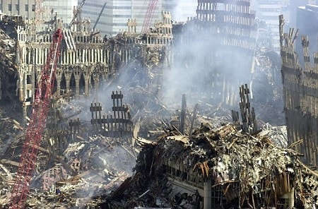 e American recalls time on pile at World Trade Center