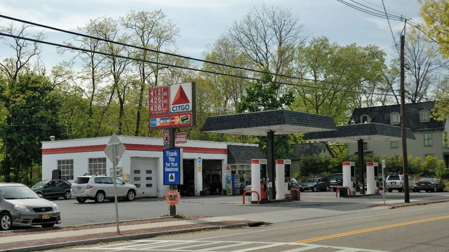 Pictured is the Elmesco Citgo in the Village of Cold Spring, New York where owner Kenny Elmes' plans to convert the service station into a Dunkin Donuts franchise has been delayed due to opposition from the town planning board.
