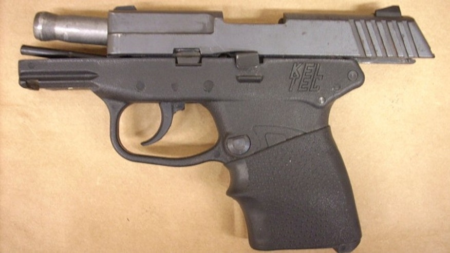 Feb. 27, 2012: This file photo provided by the State Attorney's Office shows  the Kel-Tec PF-9 9mm handgun used by George Zimmerman, the neighborhood watch volunteer who shot Trayvon Martin