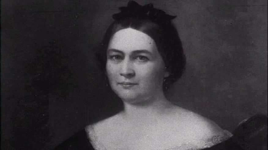 FILE photo of oil portrait of Mary Todd Lincoln