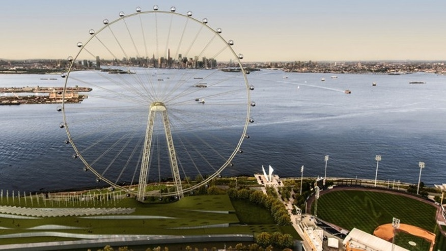 An artist's rendering of a proposed 625-foot Ferris wheel.