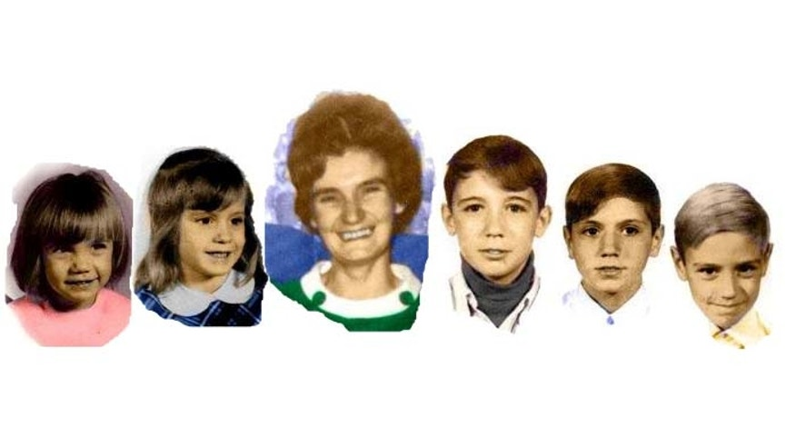 These old photos, obtained by FoxNews.com, show Nancy Landers and the five children who died in the fire. From left: K.C., 4, Lisa, 7, Billy, 12, Davey, 13, and Kevin, 9.