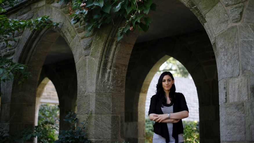 Sept. 24, 2012: Swarthmore College student Julia Melin poses for a photo on the campus of Swarthmore College in Swarthmore, Pa. Nearly 80 years after women at Swarthmore College voted to ban sororities because they were too exclusive, a group of female students will reinstate Greek life.