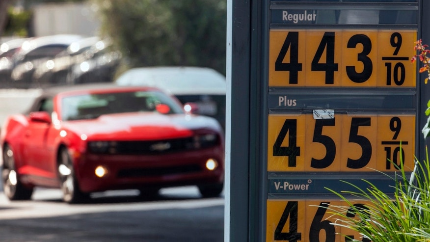 Oct. 4, 2012: Motorists drive past a gas station in Los Angeles. Motorists in California paid an average of $4.232 per gallon Wednesday. That is 45 cents higher than the national average and exceeded only by Hawaii among the 50 states.