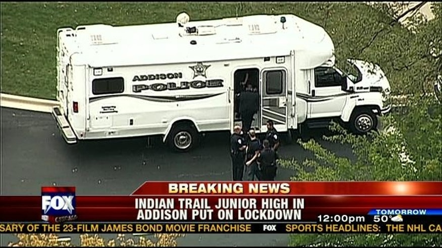 Addison Police respond to reports of a possible intruder.