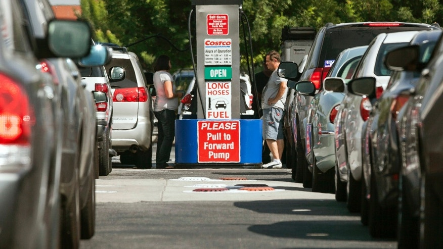 Oct. 5, 2012: Costco members fill up with discounted gasoline at a Costco gas station in Van Nuys, Calif.
