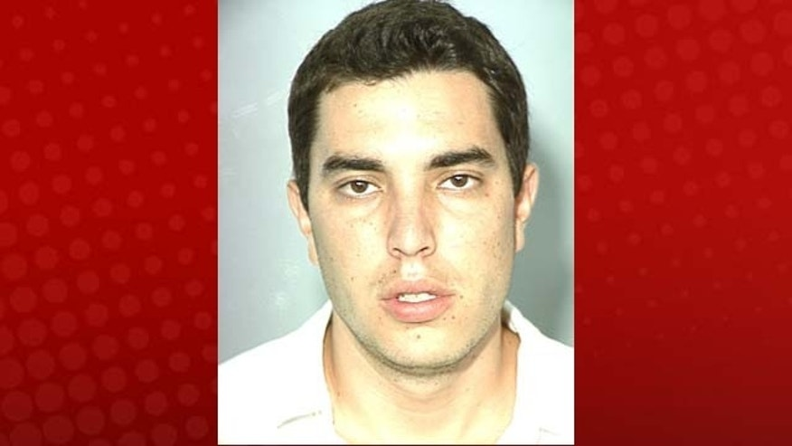 This photo, obtained by Fox affiliate KVVU/Las Vegas, shows Eric Cuellar mug shot.