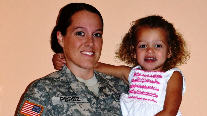 U.S. Army Sgt. Hayleigh Perez, 26, shown here with daughter Calleigh, said she was denied in-state tuition benefits at University of North Carolina. (Courtesy: Hayleigh Perez)