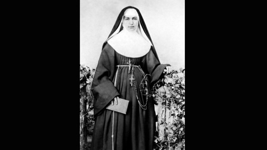 This 1883 file photo provided by the Sisters of St. Francis of the Neumann Communities shows Mother Marianne Cope, a nun who dedicated her life to caring for exiled leprosy patients on Kalaupapa in Hawaii.