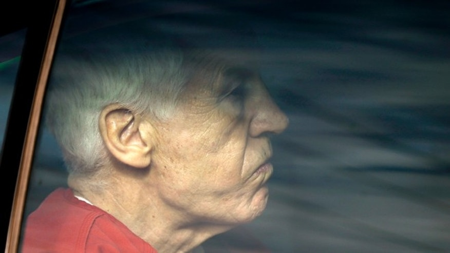 Oct. 9, 2012: Former Penn State University assistant football coach Jerry Sandusky is driven from the Centre County Courthouse after being sentenced in Bellefonte, Pa.