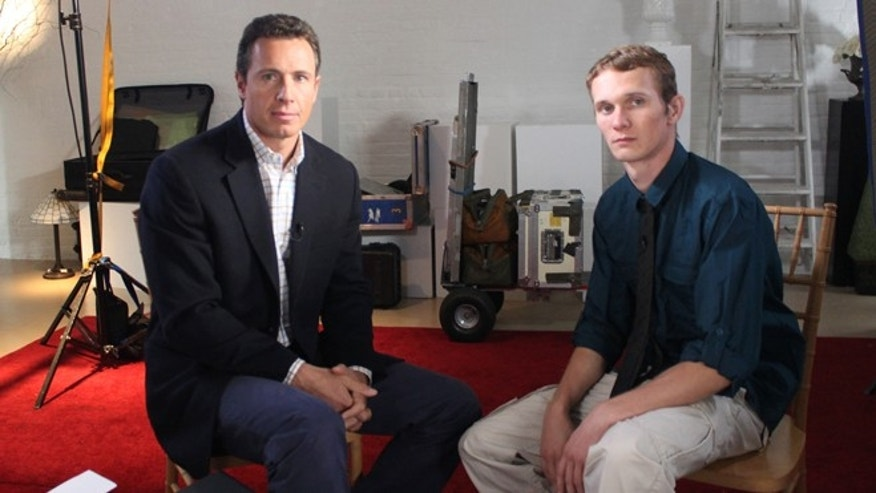 "This undated image released by ABC shows ABC News' Chris Cuomo, left, with Aaron Fisher, 18, a victim of former Penn State assistant football coach Jerry Sandusky during an interview airing Friday, Oct. 19, 2012 on the news magazine show ""20/20,"" at 10 p.m. EST on ABC."