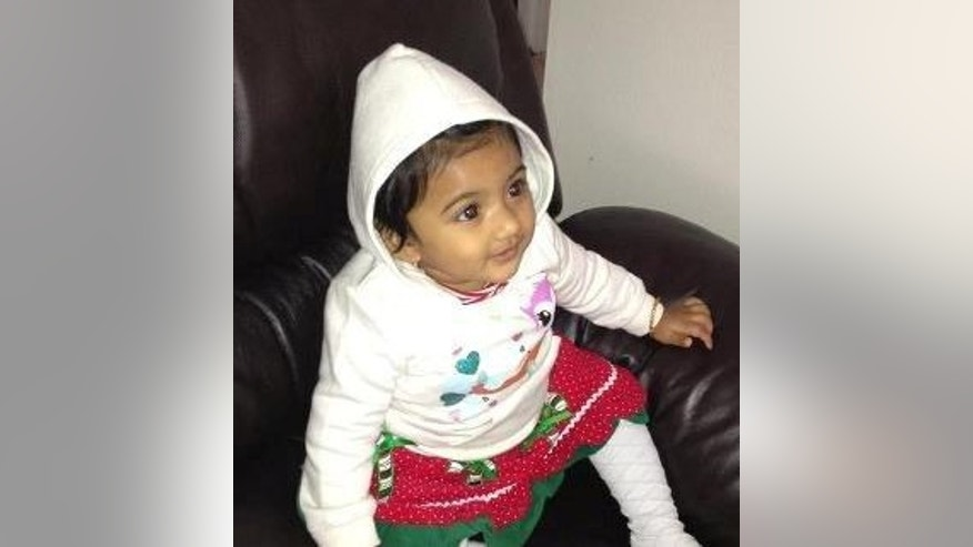 Undated photo provided by Pennsylvania State Police shows 10-month-old Saanvi Venna.