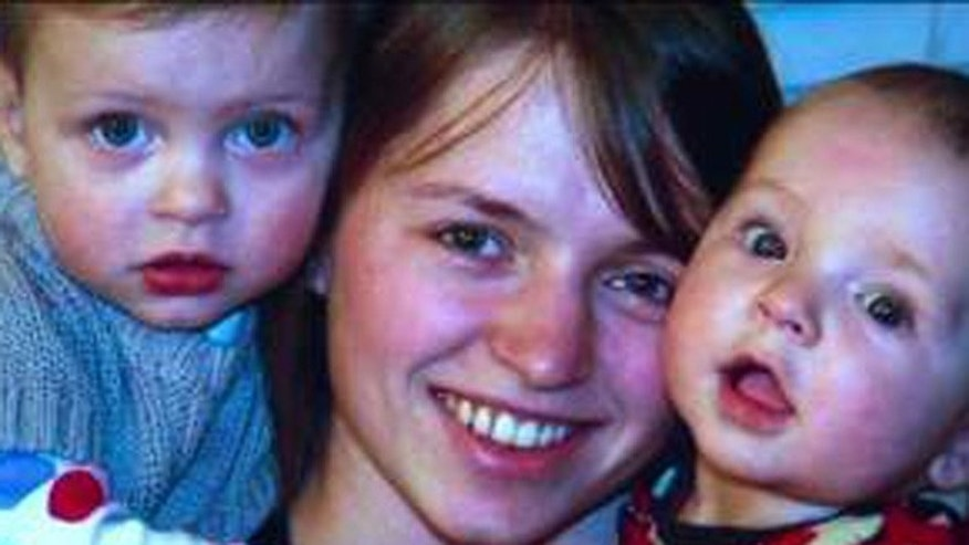This undated photo, obtained by Fox40.com, shows 23-year-old Alina Bukhantsov with two of her children.