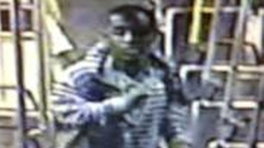 This image from video provided by the Los Angeles County Sheriffs Department shows a suspect officials say is accused of raping a mentally disabled woman on a city bus.