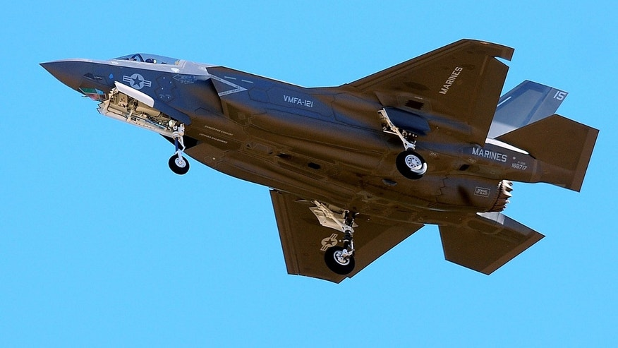 Nov. 16, 2012: The first F-35B fighter jet attached to Marine Fighter Attack Squadron 121 arrives at Marine Corps Air Station Yuma in Yuma, Ariz.