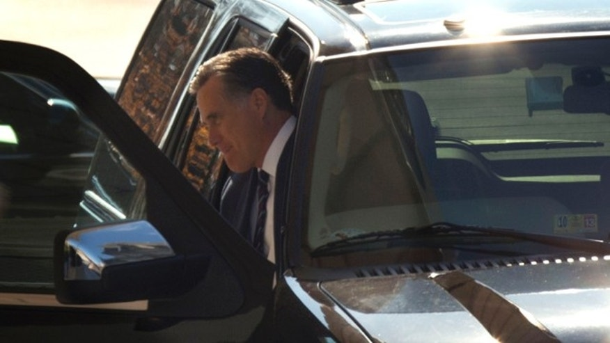 Nov. 29, 2012: Former Republican presidential candidate Mitt Romney arrives at the White House in Washington.