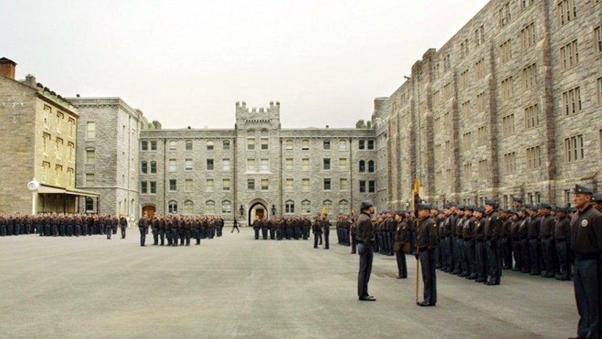 FILE 2001: United States Military Academy cadets stand in formation at the United States Military Academy at West Point, N.Y.