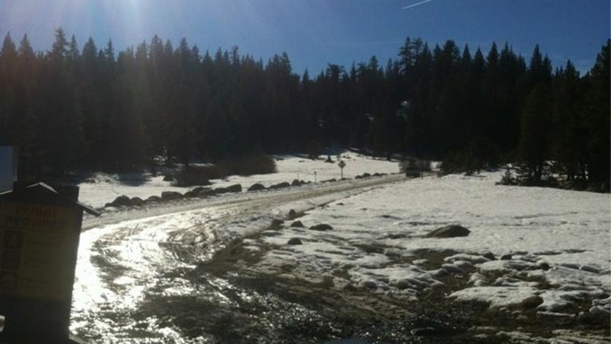 Paula Lane was found walking along this road in Northern California after nearly a week stranded in the mountains.