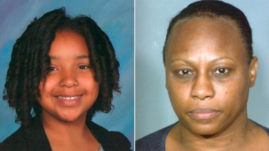 This split photo shows 10-year-old Jade Morris, left, who was last seen with 50-year-old Brenda Stokes.