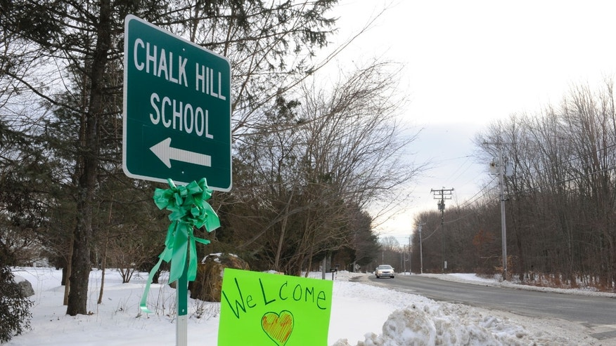 Jan. 2, 2012: A sign for Chalk Hill School is seen in Monroe, Conn.