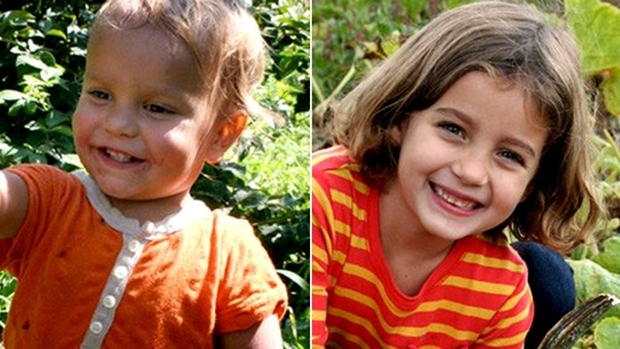 Leo Krim, 2, left, and his sister Lulu Krim, 6, from New York.