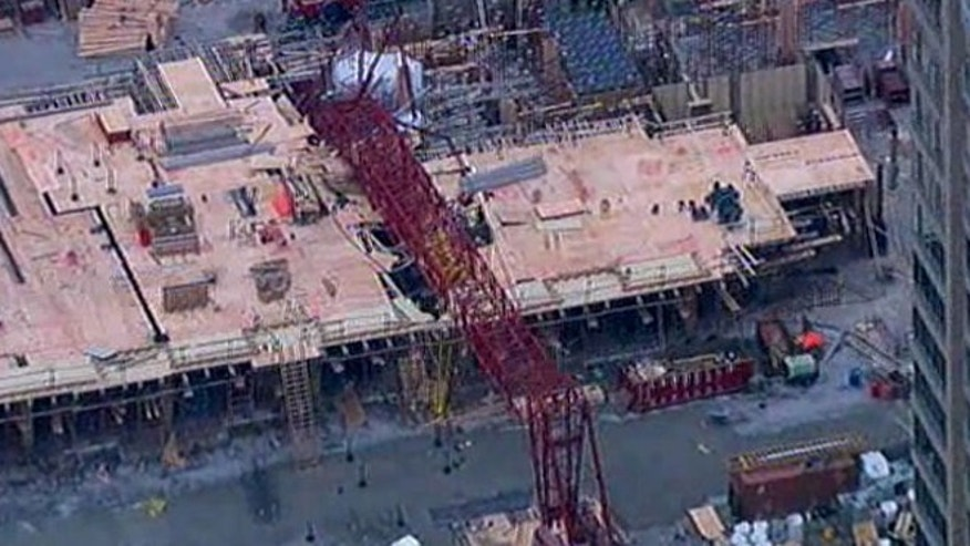 At least 4 people were injured after a large crane collapsed in Queens, N.Y.