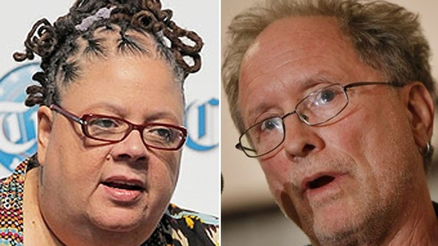 Karen Lewis, president of the Chicago teachers union, and former Weather Underground member William Ayers have harsh words for Teach for America. (AP)