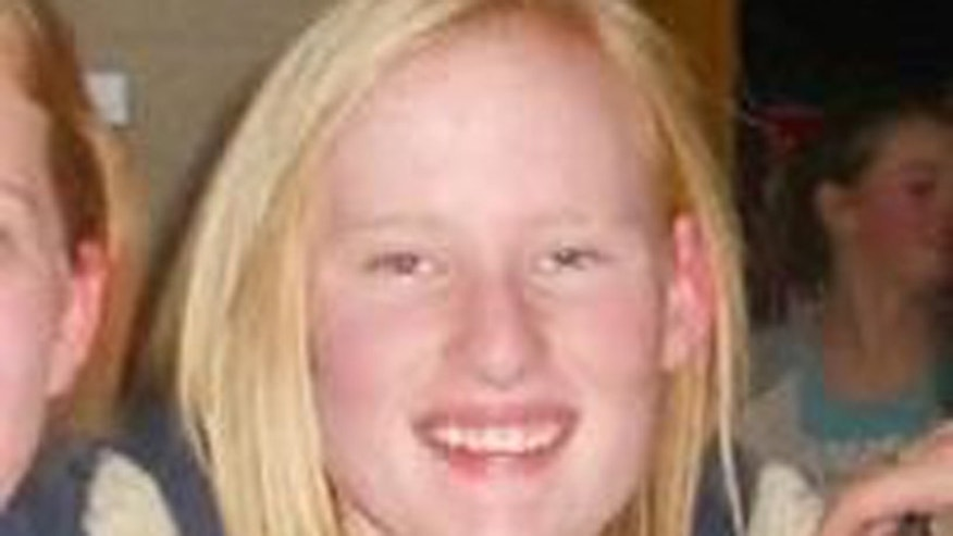 This undated photo shows 13-year-old Brooklyn Gittins, who was last seen Tuesday night in her bedroom.