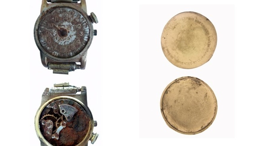 Glauco  Menacaroni found this watch on Monte Tezio near Perguina, Italy near the wreckage of a U.S. WW II service plane. he hopes to reunite with a surviving family member of the crew.