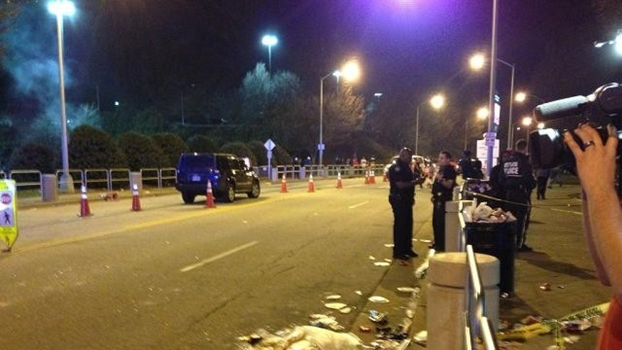 Jan. 20, 2013: A Falcons fan was stabbed after a fight in the stadium parking lot after the NFC Championship game.
