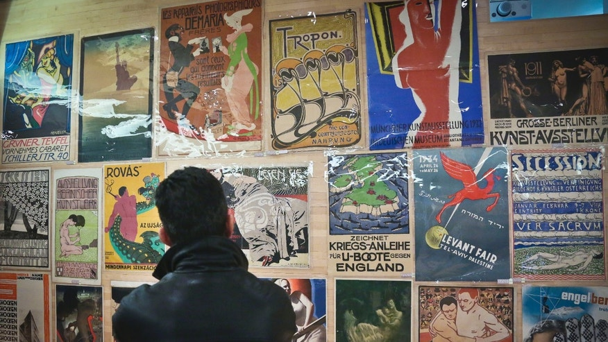 Jan. 17, 2013: Hans Sachs' collection of thousands of rare posters is previewed at the Bohemian National Hall in New York.