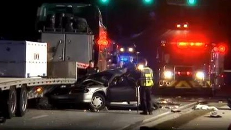 Authorities investigate a fatal car accident in Snellville, Ga.