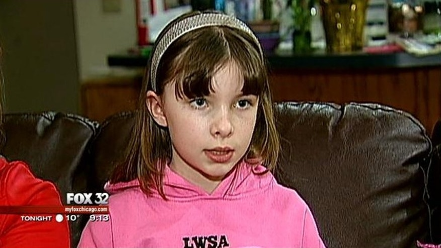 Aleksandra Sheridan, 9, saved her mother's life when she had a medical emergency on the roadway.