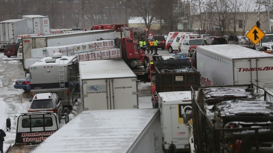 Jan. 31, 2013: A multi-vehicle accident on south bound I-75 near Springwells, Mi., killed at least three people in Detroit. The crash involved at least two dozen vehicles including tractor-trailers.