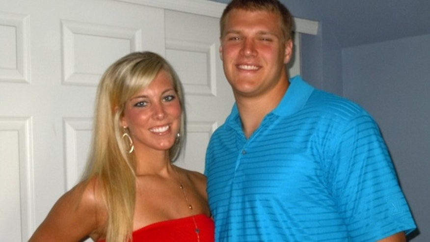 University of Toledo football player Ben Pike and his fiance Ashlee Barrett