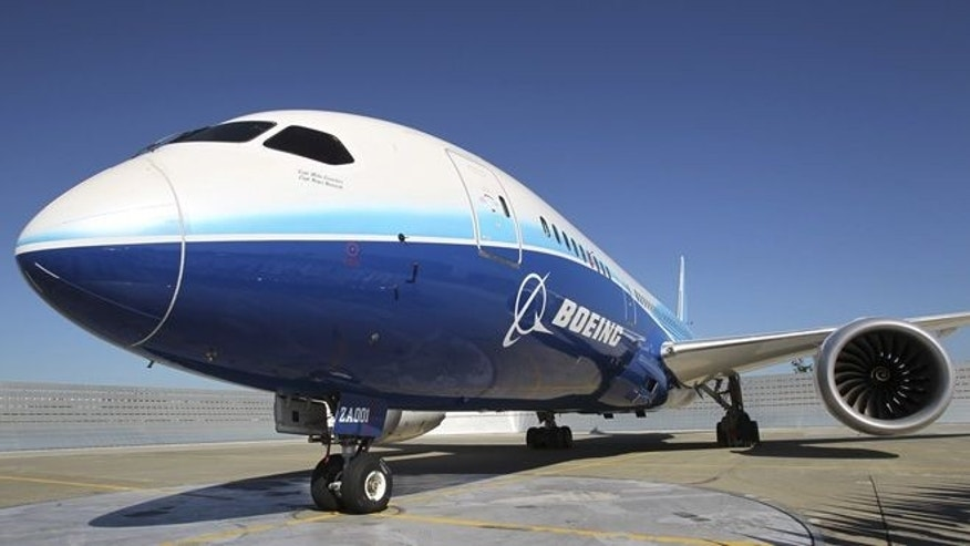 Aug. 26, 2011: A 787 Dreamliner sits on the tarmac at Boeing Commercial Airplanes manufacturing facilities at Paine Field, Everett, Washington during the jetliner's certification event.