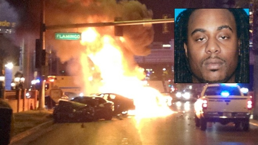 Feb 21: Kenneth Cherry Jr., also known as rapper Kenny Clutch, is shown in this April, 2011 photo from the California Department of Motor Vehicles. He was involved in a fiery crash on the Vegas Strip.