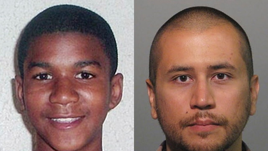 FILE -This combo made from file photos shows Trayvon Martin, left, and George Zimmerman. George Zimmerman, 28, the neighborhood watch volunteer who shot 17-year-old Trayvon Martin, was arrested and charged with second-degree murder. The central Florida suburb of Sanford is getting back to normal a year after Zimmerman shot and killed Martin. (AP Photo, File)