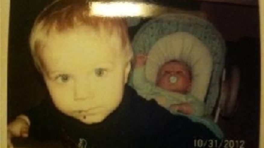 Feb. 26, 2013: This photo released by the Connecticut State Police during an Amber Alert shows Alton Dennison, 6, left, and Ashton Denison, 2 months old, right, who were taken from their daycare by their grandmother Tuesday afternoon. (AP)