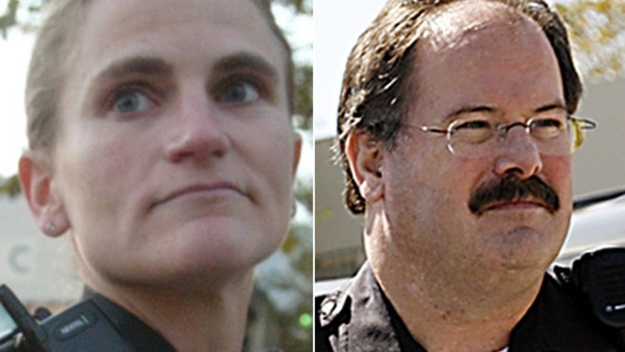 Detective Elizabeth Butler, left, and Sgt. Loren Butch Baker, right, were killed when they tried to question a man over a report of a sexual assault on February 27, 2013.